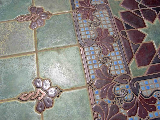Turkish Floral Ceramic Tile