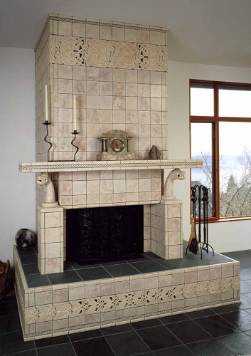 Celtic Tile Fireplace