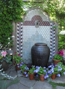 Arts and Crafts Ceramic Tile Fountain