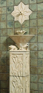 Arts and Crafts Tile Fountain