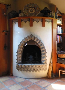Islamic Tile Fireplace