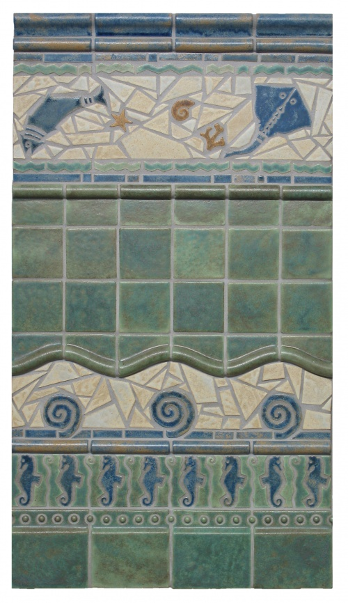 Sealife Mosaic Tile Patterns